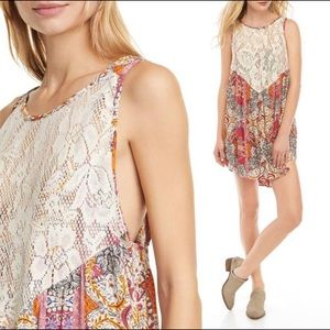 FREE PEOPLE Count Me In Mini Dress Trapeze Top $88